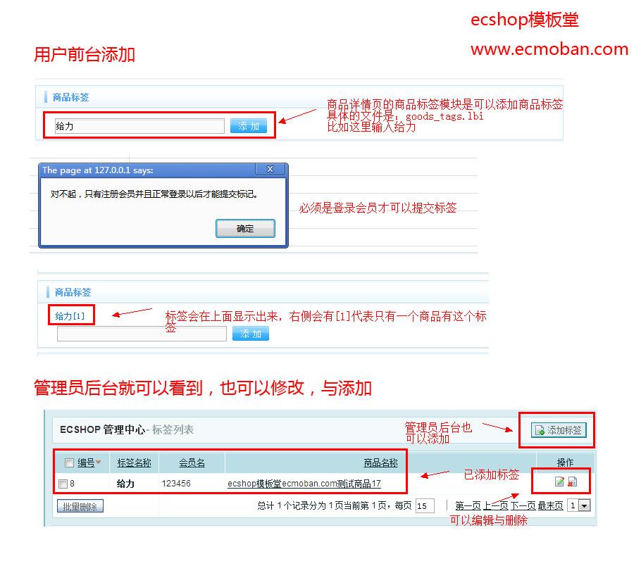 【ecshop后台详解】商品管理-标签管理
